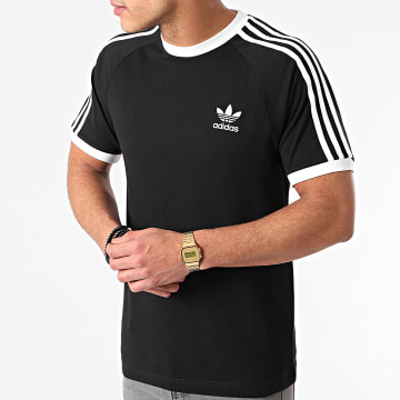 Adidas Originals - Tee Shirt A Bandes 3 Stripes GN3495 Noir