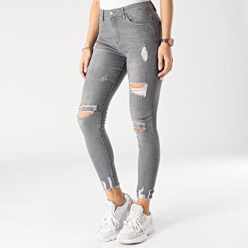 Girls Outfit - Jean Skinny Femme J936 Gris