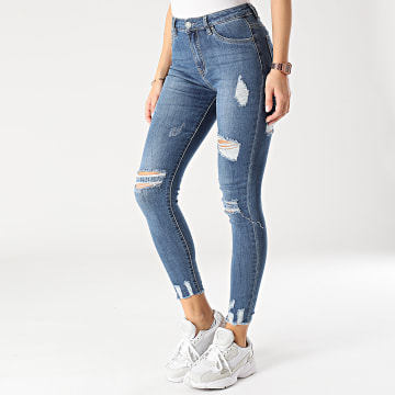 Girls Outfit - Jean Skinny Femme J935 Bleu Denim