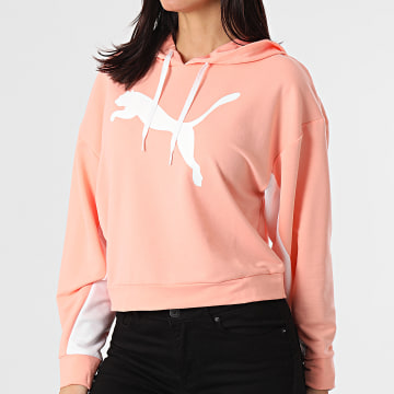 Puma - Sweat Capuche Crop Femme Modern Sports 585955 Rose