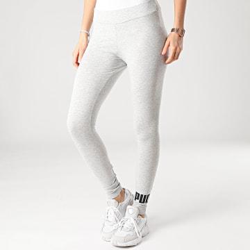 Puma - Legging Femme Essential Colorblock 586832 Gris Chiné