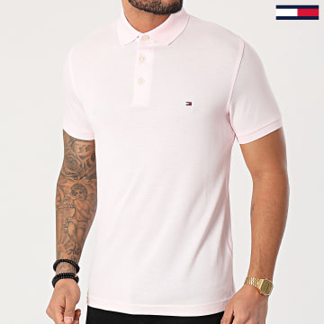 Tommy Hilfiger - Polo Slim Manches Courtes 1985 7771 Rose