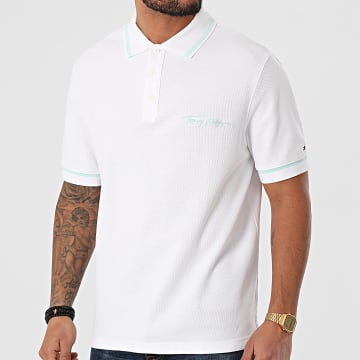 Tommy Hilfiger - Polo Manches Courtes Tommy Signature Casual 7806 Ecru