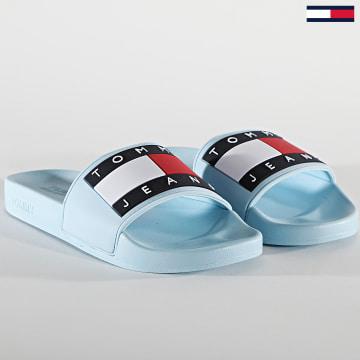Tommy Jeans - Claquettes Femme Flag Pool Slide 1378 Sail Blue