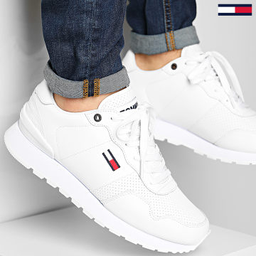 Tommy Jeans - Baskets Lifestyle Leather Runner 0665 white