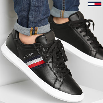Tommy Hilfiger - Baskets Essential Leather Cupsole 3424 Black