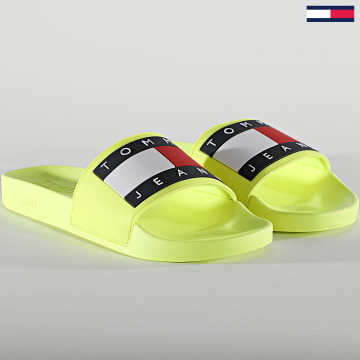 Tommy Jeans - Claquettes Flag Pool Slide 0689 Hyper Yellow