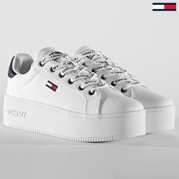 Tommy Jeans - Baskets Femme Iconic Essential Platform 1358 White