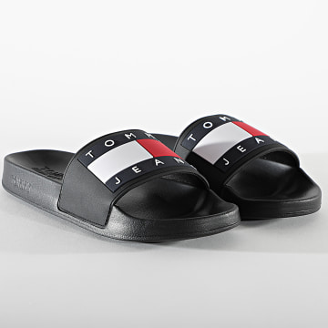 Tommy Jeans - Claquettes Flag Pool Slide 0689 Black