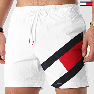 Tommy Hilfiger - Short De Bain Medium Drawstring 2048 Blanc