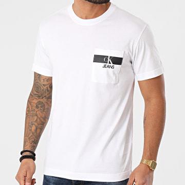 Calvin Klein - Tee Shirt Poche 7671 Blanc