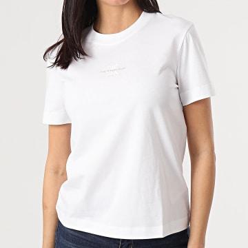 Calvin Klein - Tee Shirt Femme Monogram Logo 5497 Blanc