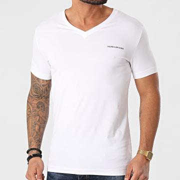 Calvin Klein - Tee Shirt Col V 8068 Blanc