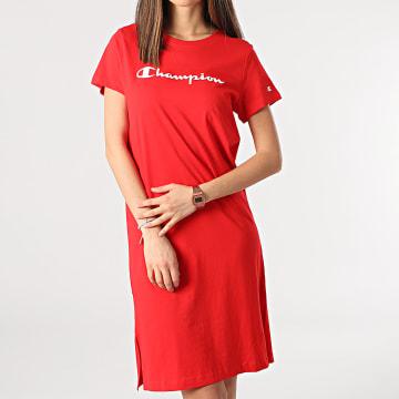 Champion - Tee Shirt Robe Femme 112609 Rouge