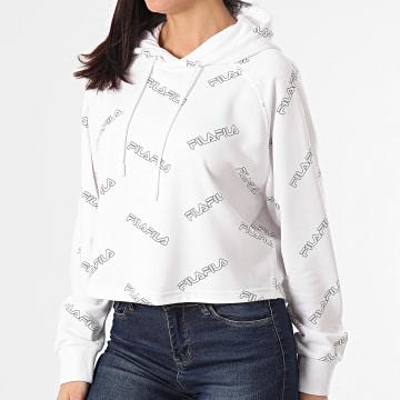 Fila - Sweat Capuche Femme Crop Janae 683311 Blanc