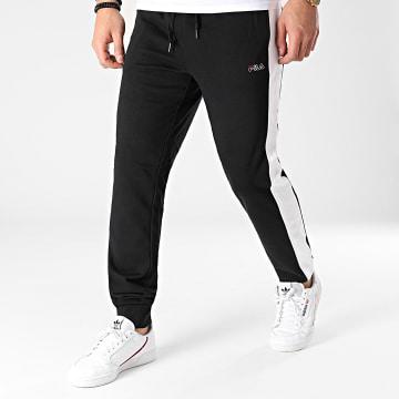 Fila - Pantalon Jogging A Bandes Lui 683405 Noir Blanc