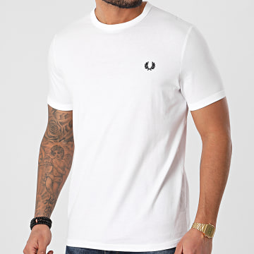 Fred Perry - Tee Shirt Ringer M3519 Blanc