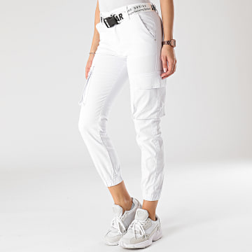 Girls Outfit - Jogger Pant Femme J818-2 Blanc