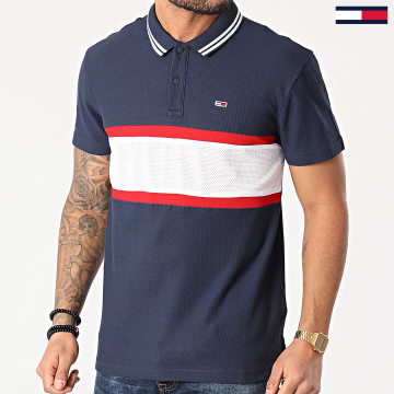 Tommy Hilfiger - Polo Manches Courtes Mix Media Band 0325 Bleu Marine