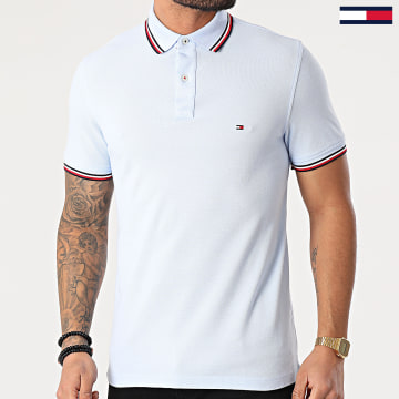 Tommy Hilfiger - Polo Manches Courtes Tipped 6054 Bleu Clair