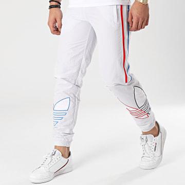 Adidas Originals - Pantalon Jogging A Bandes Tricolore GN3573 Gris Clair