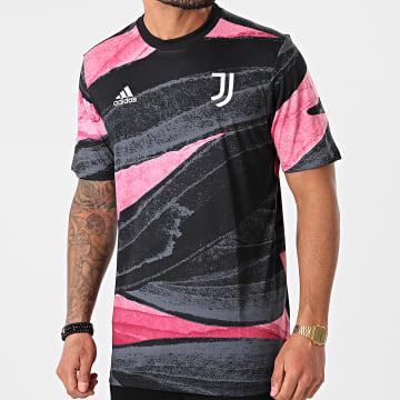 adidas - Tee Shirt De Sport Juventus FR4236 Noir Rose