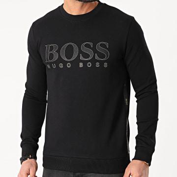 BOSS - Sweat Crewneck Salbo Iconic 50448186 Noir Doré