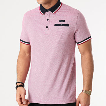 Deeluxe - Polo Manches Courtes Drexler S21219 Rouge Chiné