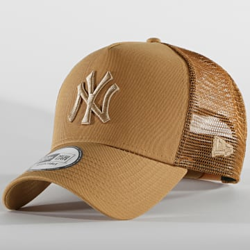 New Era - Casquette Trucker 9Forty Essential 12590267 New York Yankees Camel