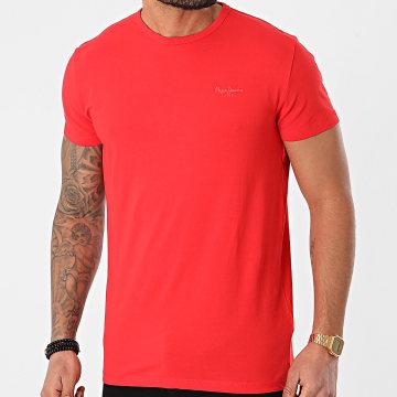 Pepe Jeans - Tee Shirt Original Basic PM503865 Rouge