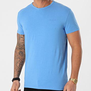 Pepe Jeans - Tee Shirt Original Basic PM503865 Bleu Clair