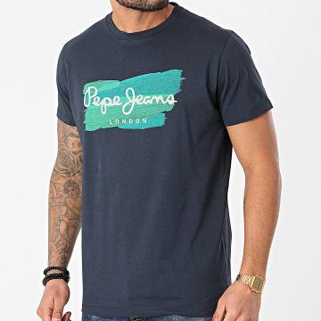 Pepe Jeans - Tee Shirt Aitor PM507723 Bleu Marine