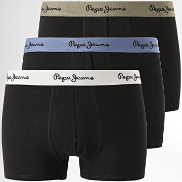 Pepe Jeans - Lot De 3 Boxers Organic PMU10673 Noir