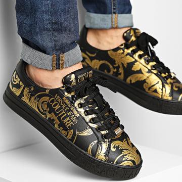 Versace Jeans Couture - Baskets Linea Fondo Court E0YWASK9 Black Gold Renaissance