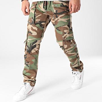 2Y Premium - Pantalon Cargo B5823 Vert Kaki Camouflage