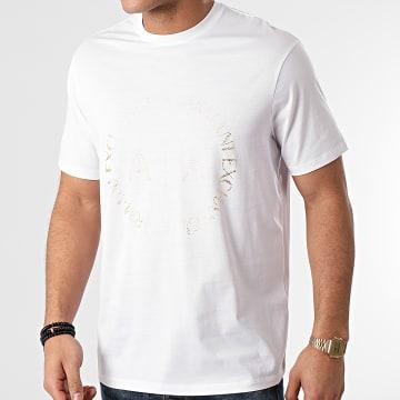Armani Exchange - Tee Shirt 3KZTEC-ZJ9AZ Blanc Doré