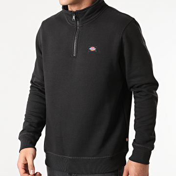 Dickies - Sweat Col Zippé Oakport A4XD4 Noir