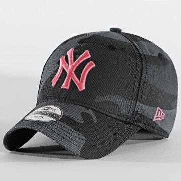 New Era - Casquette Enfant 9Forty All Over Camo 60112567 New York Yankees Noir