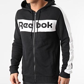 Reebok - Sweat Zippé Capuche A Bandes Training Essentials GI8522 Noir