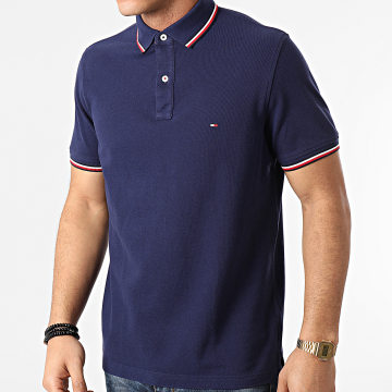 Tommy Hilfiger - Polo Manches Courtes Tipped 6054 Bleu Marine