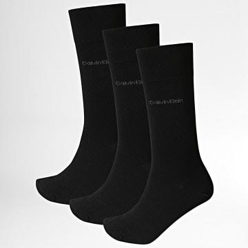 Calvin Klein - Lot De 3 Paires De Chaussettes 100001752 Noir