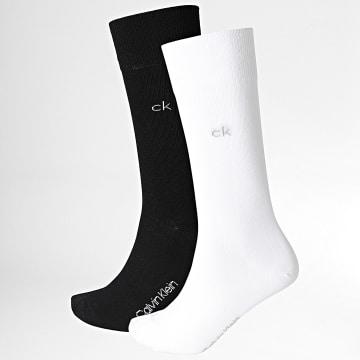 Calvin Klein - Lot De 2 Paires De Chaussettes 100001876 Blanc Noir