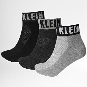 Calvin Klein - Lot De 3 Paires De Chaussettes 100001880 Noir Blanc Gris Chiné