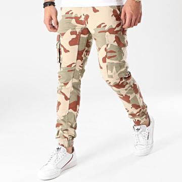 Jack And Jones - Jogger Pant Camouflage Paul Flake Vert Kaki Beige