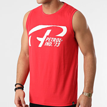 Petrol Industries - Tee Shirt Sans Manches 701 Rouge