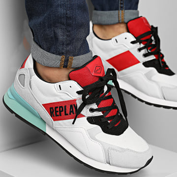 Replay - Baskets Sport Beach C0013L White Red Turquoise