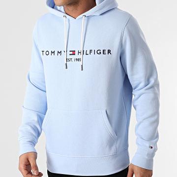 Tommy Hilfiger - Sweat Capuche Tommy Logo 1599 Bleu Clair
