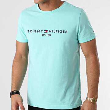 Tommy Hilfiger - Tee Shirt Tommy Logo 1797 Turquoise