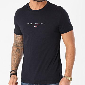 Tommy Hilfiger - Tee Shirt Essential Tommy 7676 Bleu Marine