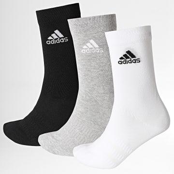Adidas Performance - Lot De 3 Paires De Chaussettes Light Crew DZ9392 Noir Blanc Gris Chiné
